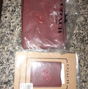 Coach wristlet and phone wallet